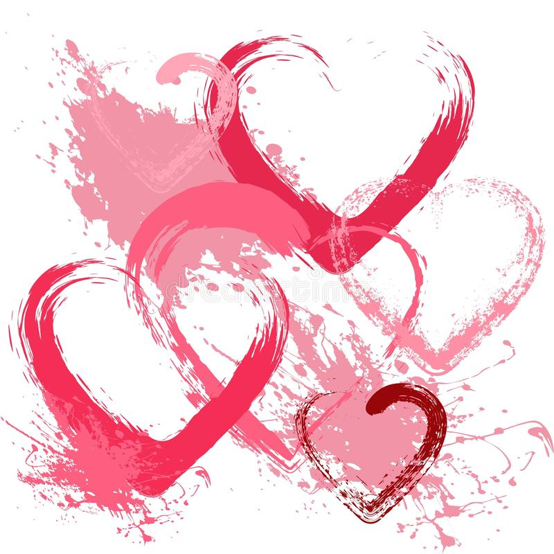 Valentines day background with hearts royalty free illustration