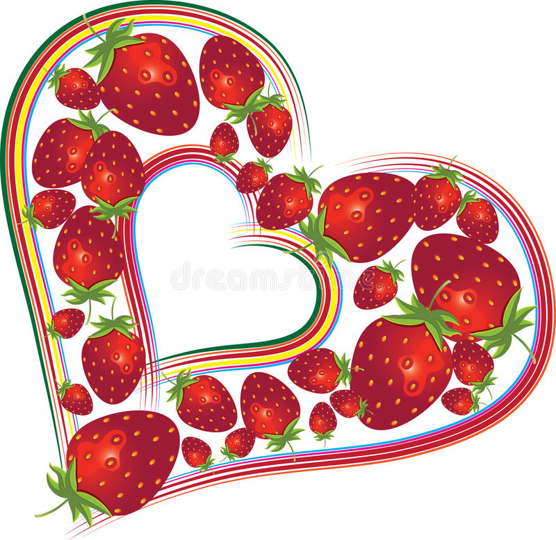 Download Valentines Day Background With Strawberries Royalty Free Stock Photos - Image: 15004828