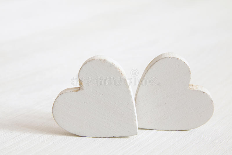 Download Valentines Day Background. Wooden Hearts Stock Photo - Image: 83700859