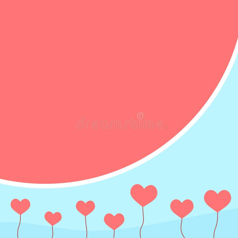 Valentines day banner with heart shapes. Valentines day themed banner with heart shapes stock illustration