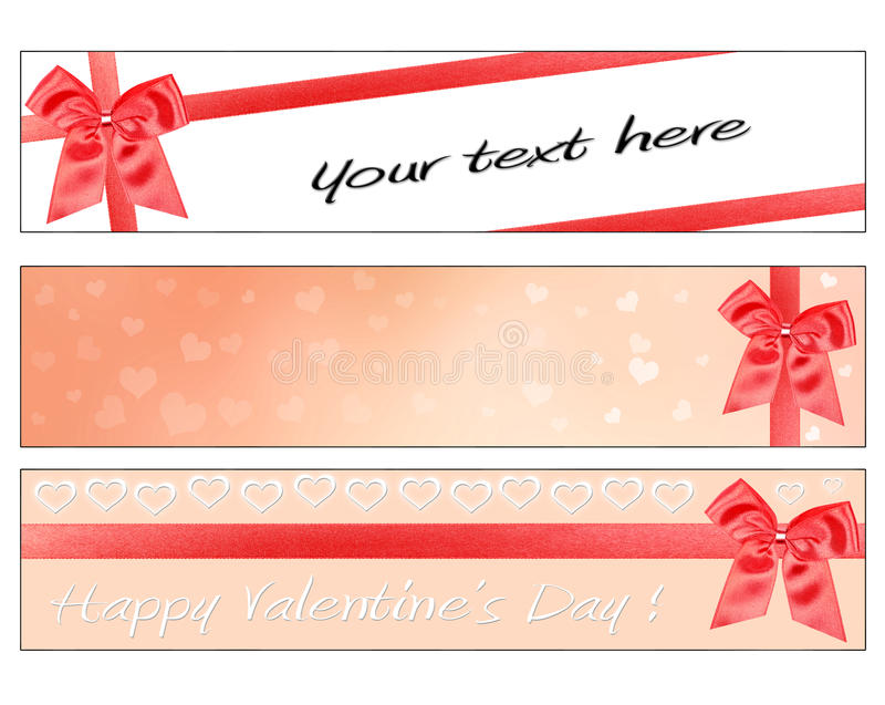 Valentines Day banners royalty free stock image