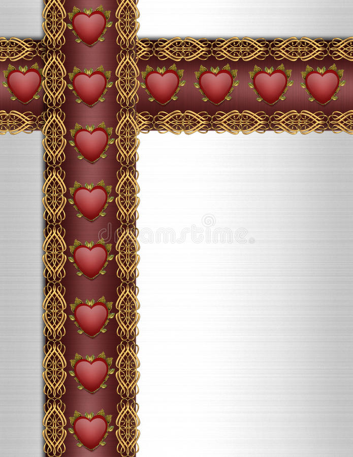 Valentines Day Border Fancy stock image