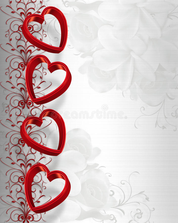 Valentines Day Border Hearts stock photography