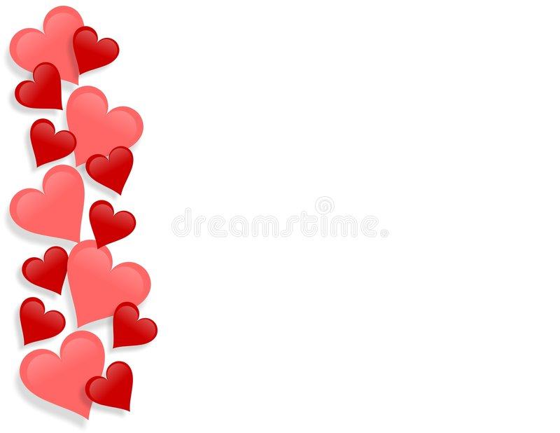 Valentines Day Border Hearts stock photo