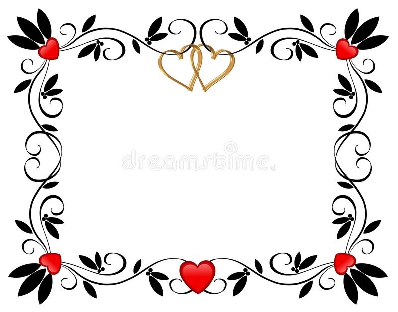 Download Valentines Day Border Hearts Ornamental Stock Illustration - Image: 7761016