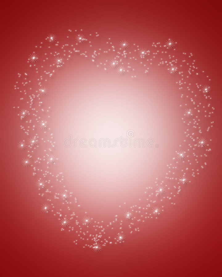 Download Valentines Day Border Magical Heart Stock Illustration - Image: 4056902