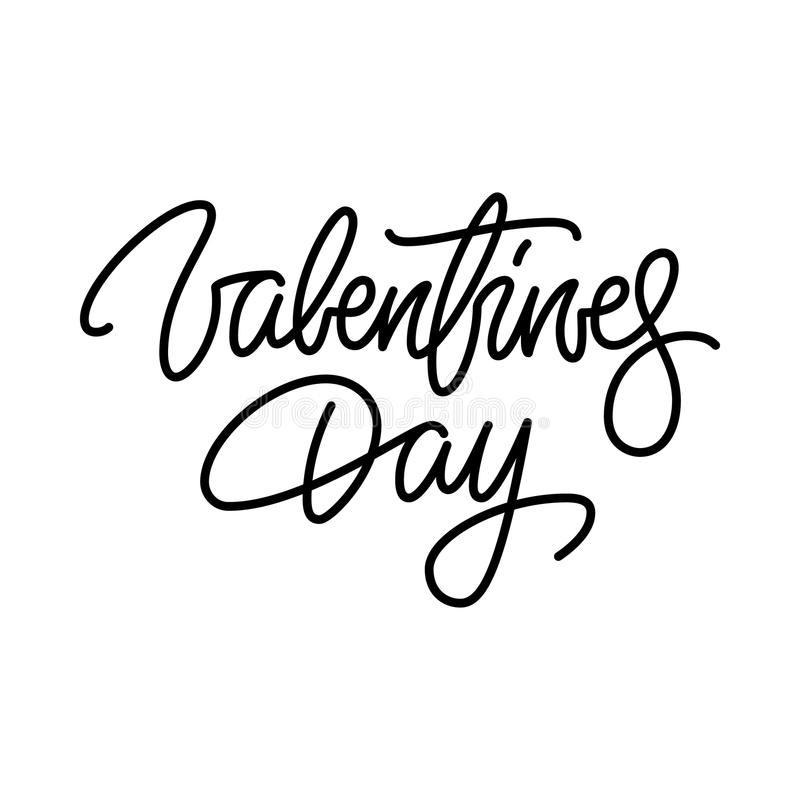Valentines Day Calligraphy Lettering Badge vector illustration