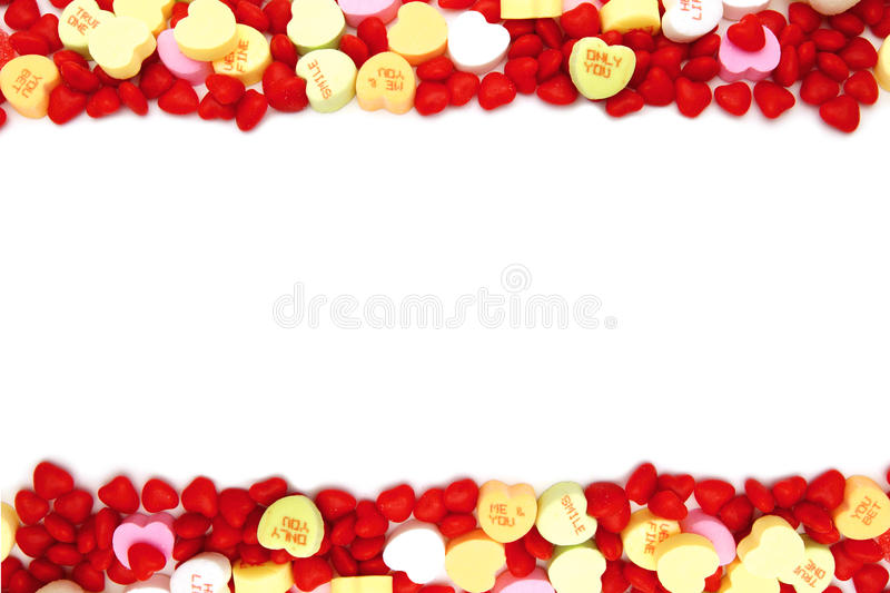 Download Valentines Day Candy Border Stock Image - Image of romantic, heart: 22743469