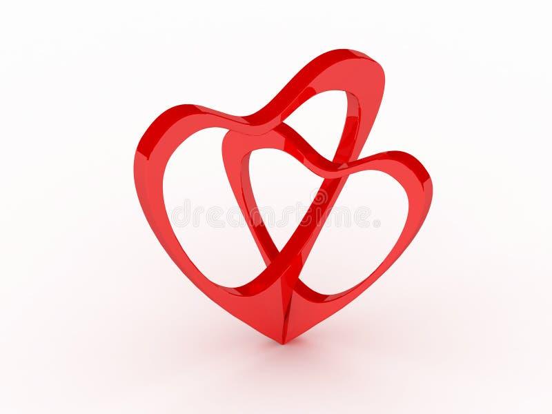 Valentines Day card. 3d imagen royalty free illustration