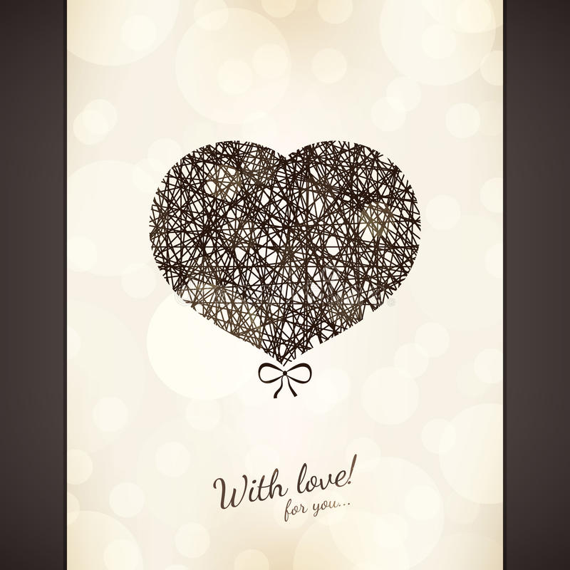 Download Valentines day card stock vector. Image of concept, beautiful - 27836746