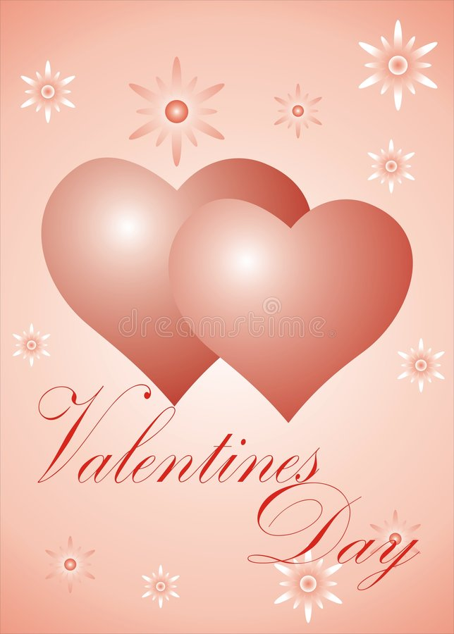Valentines Day card 3 stock photo