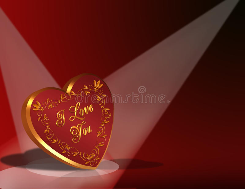Valentines Day Card Background Hearts royalty free stock image