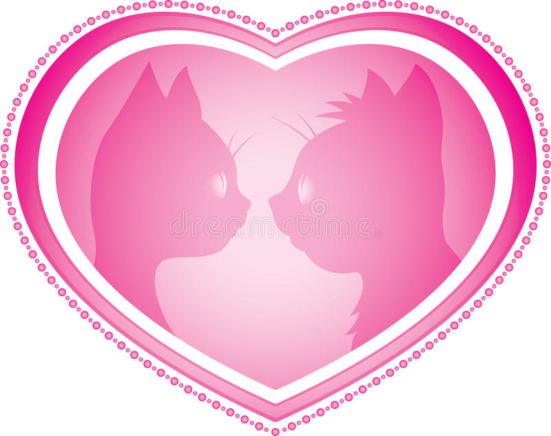 Download Valentines Day Card With Cats Stock Vector - Illustration of drawing, silence: 28839937
