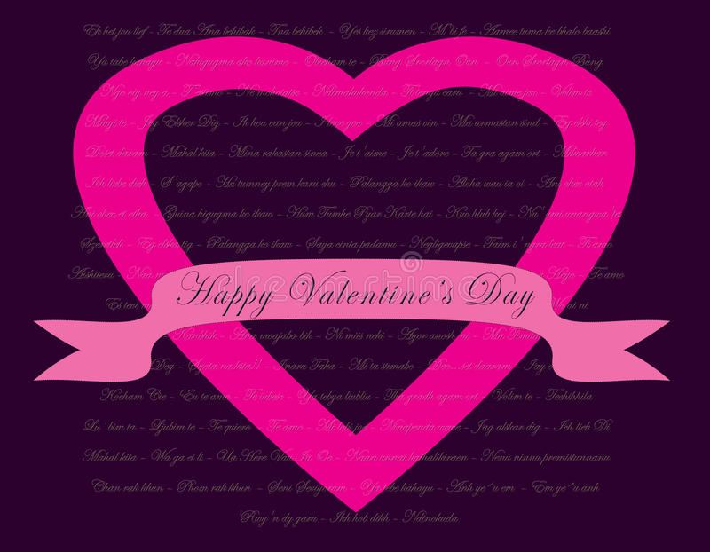 Valentines Day card concept vector illustration