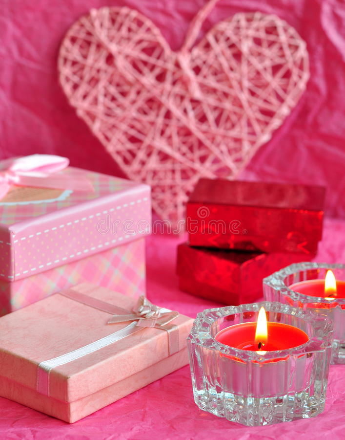 download valentines day card concept valentine gift candles gifts surprises love