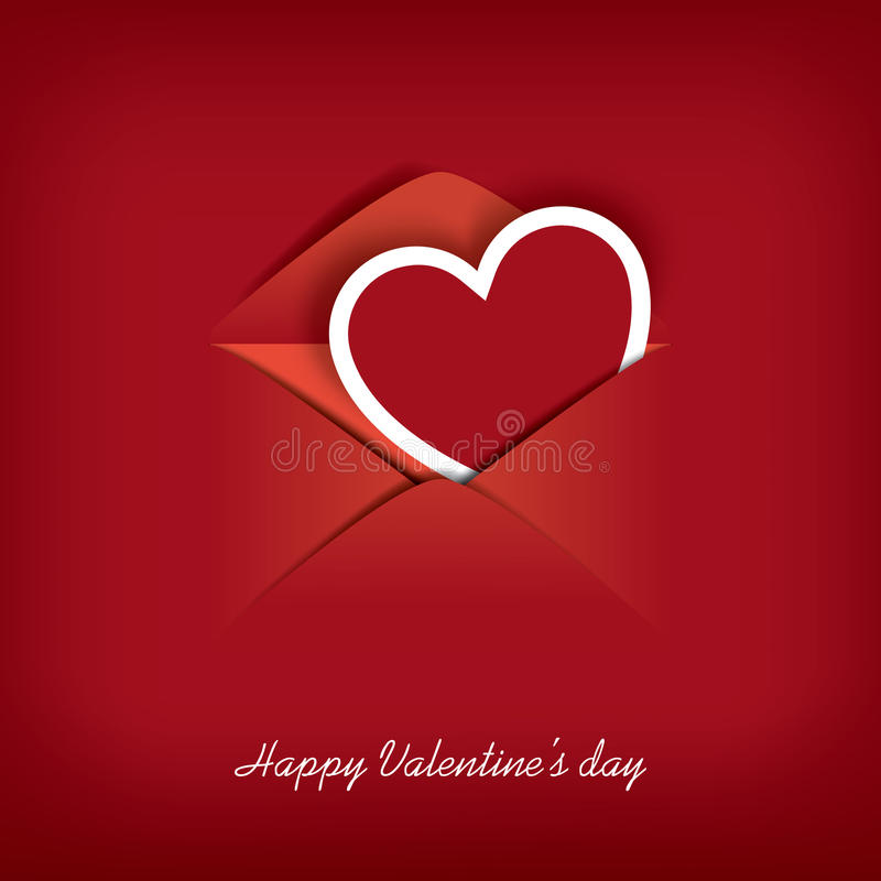 Valentines day card stock illustration