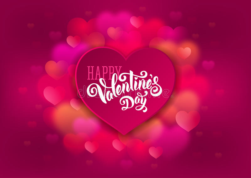 Valentines Day card stock illustration