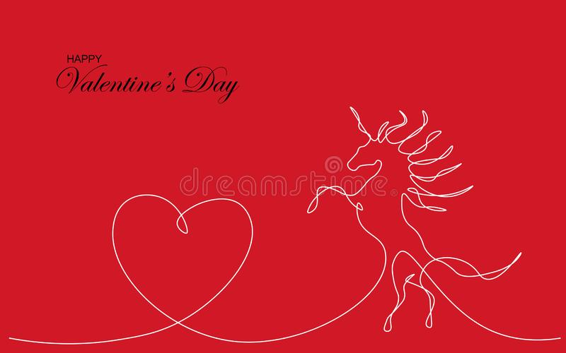 Valentines day card heart love design, vector vector illustration