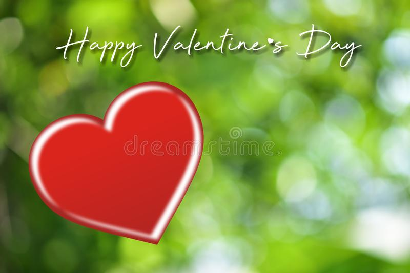 Valentines day card with hearts.Heart shape on blurred bokeh background. royalty free stock photos