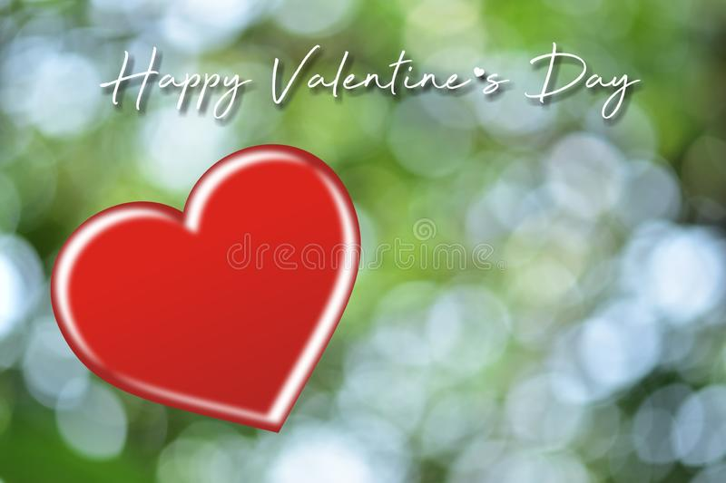 Valentines day card with hearts.Heart shape on blurred bokeh background. royalty free stock photography