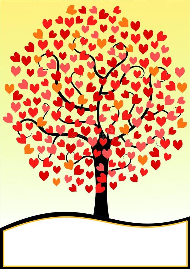 Download Valentines Day Card Hearts Tree Stock Illustration - Illustration: 90711944