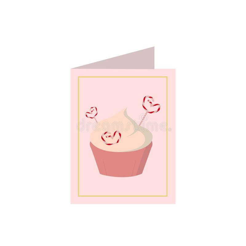 Valentines day card icon on white background for graphic and web design, Modern simple vector sign. Internet concept. Trendy stock illustration
