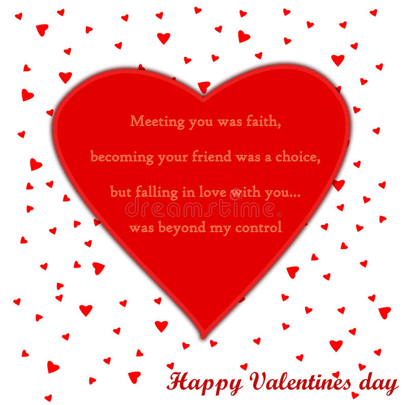 Download Valentines Day Card With Poem Stock Illustration - Image: 28798714