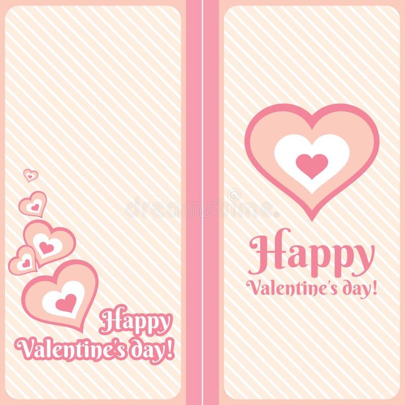 Valentines day card. Vector illustration royalty free illustration