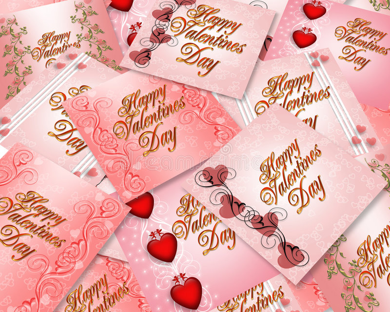 Valentines Day Cards Background Royalty Free Stock Image