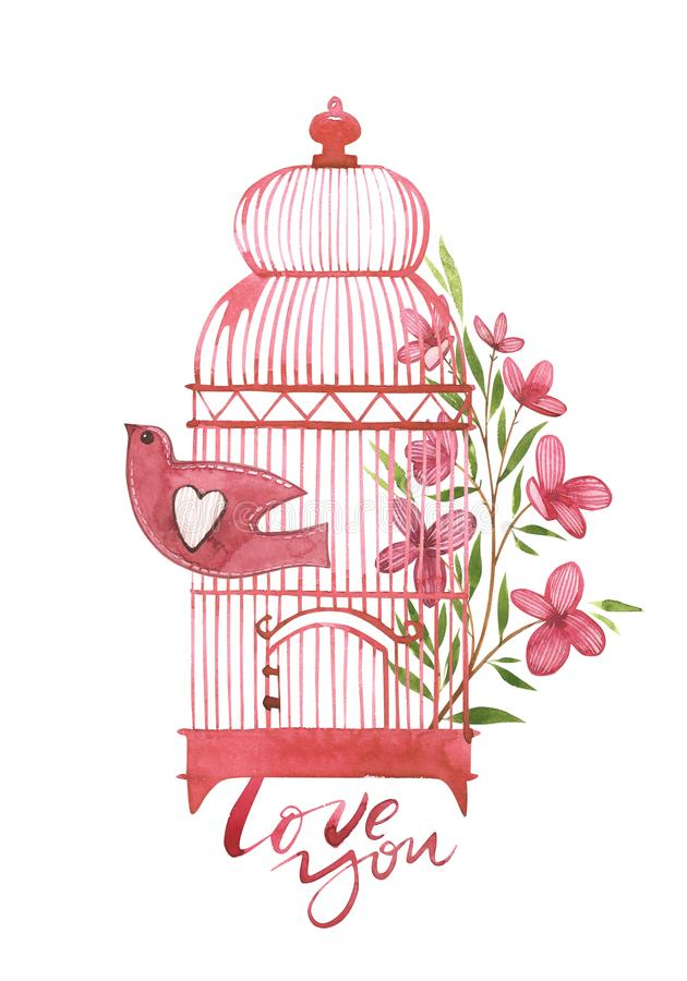 Valentines day cards with bird cage with flowers love you romantic download valentines day cards with bird cage with flowers love you romantic quote for m4hsunfo