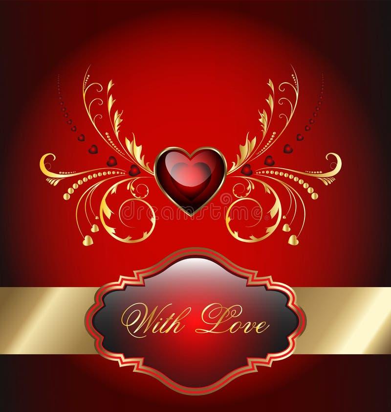 Valentines day celebration card