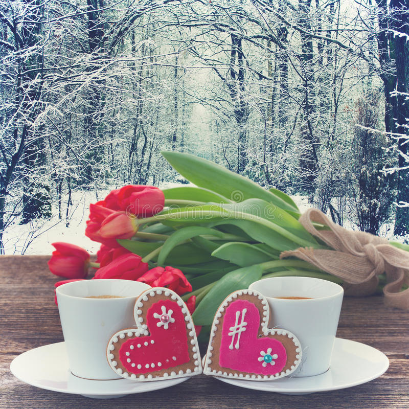 Download Valentines day coffee stock image. Image of coffee, romance - 84308787
