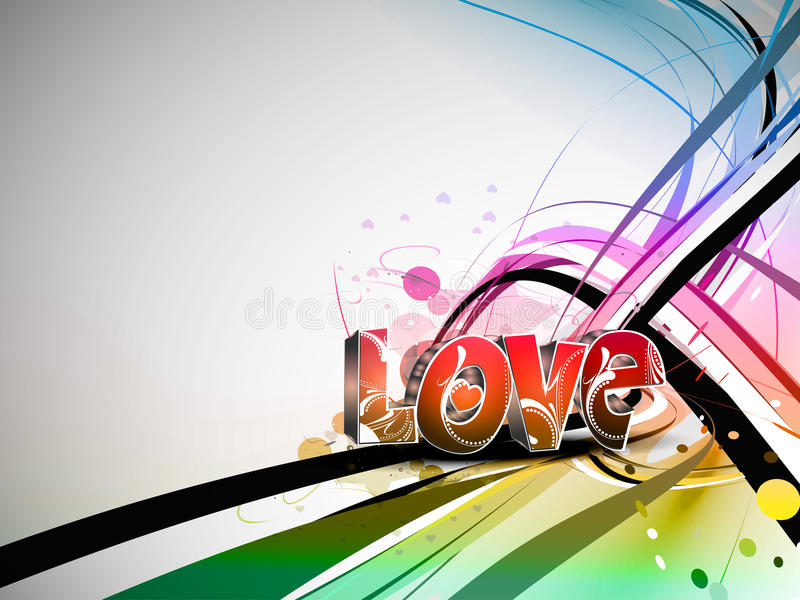 Download Valentines Day Colorful Love Design Background Stock Vector - Image: 18164355