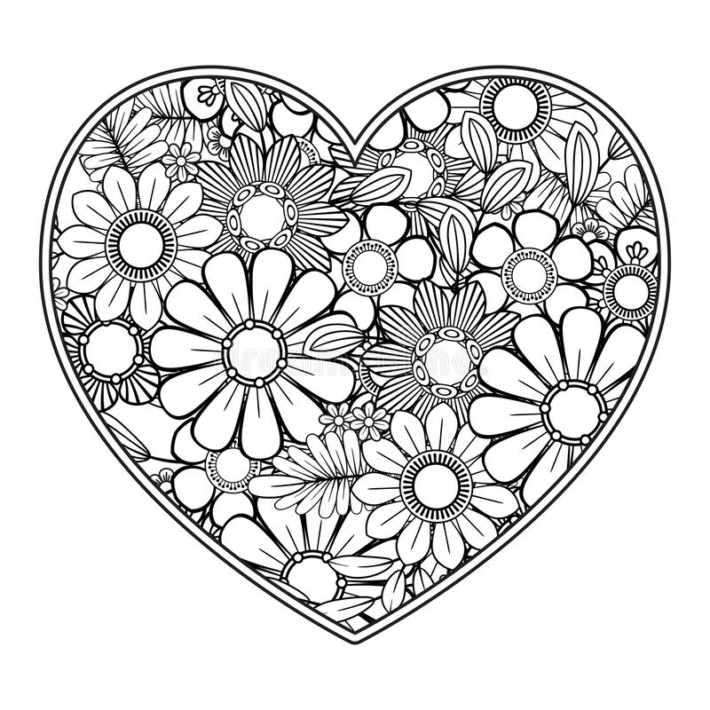 Valentines Day Coloring Page Stock Vector Illustration Of Line Coloring 138002585