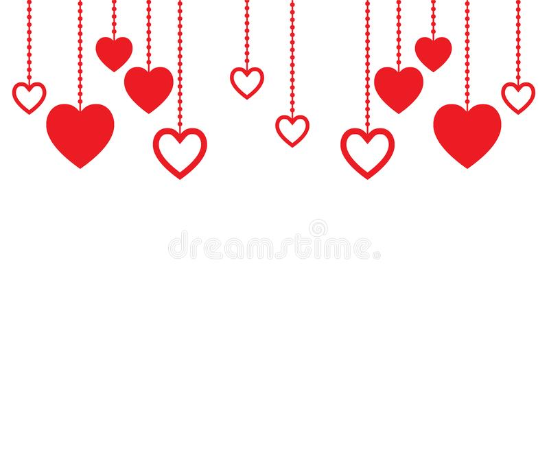 Clean background with red hearts and copy space for your text. stock photography