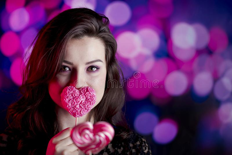 Valentines day concept. Place for typography. royalty free stock photos