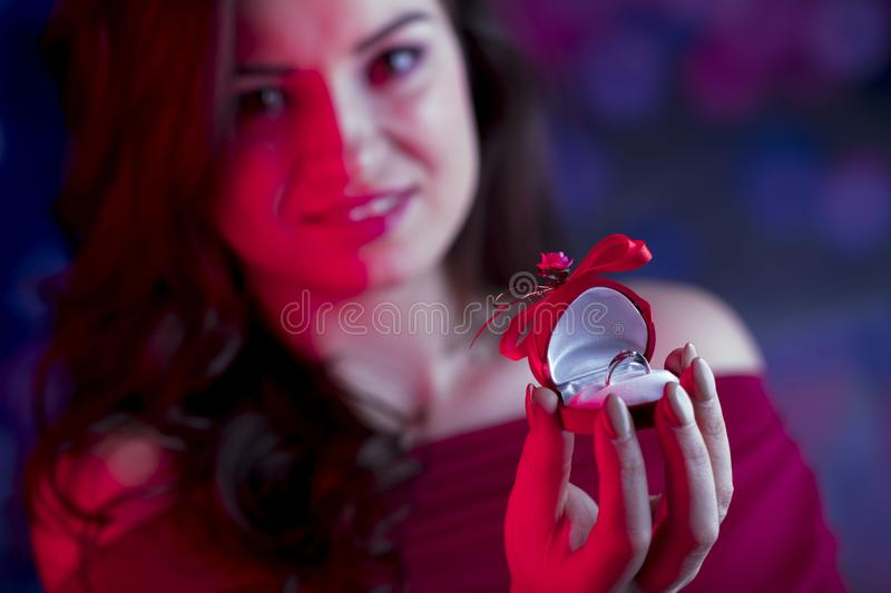 Valentines day concept. Place for typography. royalty free stock photo