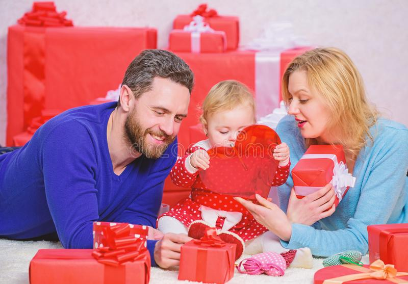 Valentines day concept. Together on valentines day. Lovely family celebrating valentines day. Happy parents. Life can. Not be better. Family celebrate royalty free stock images