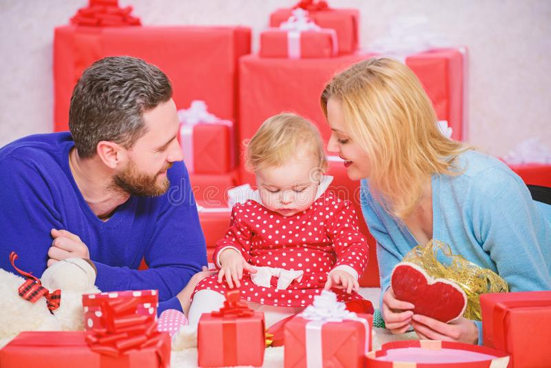 Valentines day concept. Together on valentines day. Lovely family celebrating valentines day. Happy parents. Enjoying royalty free stock photo