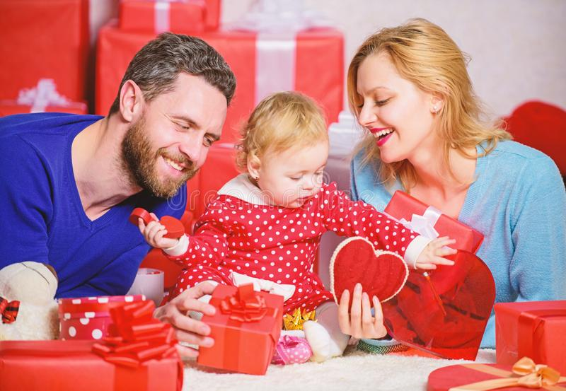 Valentines day concept. Together on valentines day. Lovely family celebrating valentines day. Happy parents. Family. Celebrate anniversary. Day to celebrate stock photography