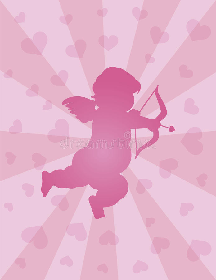 Download Valentines Day Cupid With Bow And Arrow Stock Vector - Image: 27358984