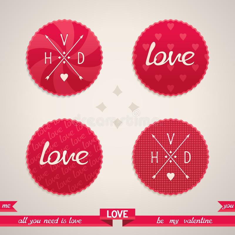 Valentines Day design elements royalty free stock image