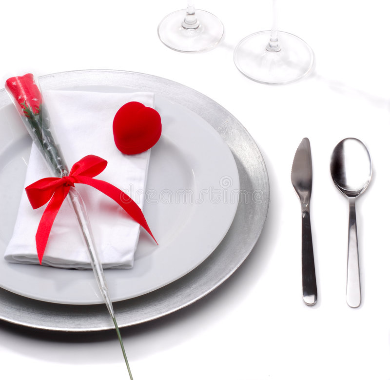 Valentines Day Dinner royalty free stock photography