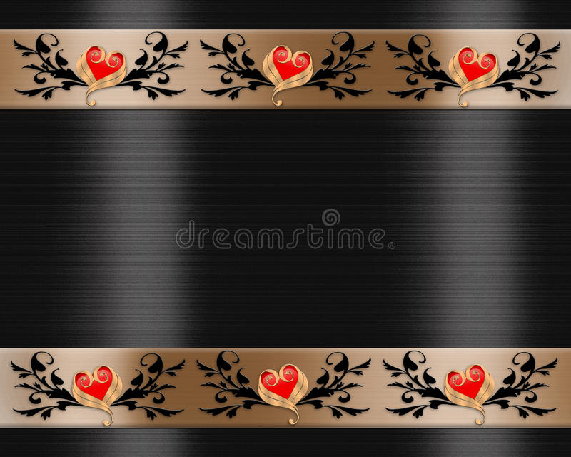 Valentines day Elegant Border stock photography