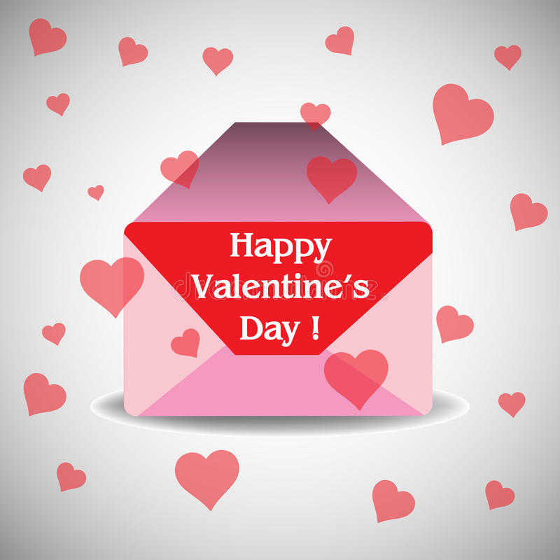 Valentines Day envelope royalty free stock images