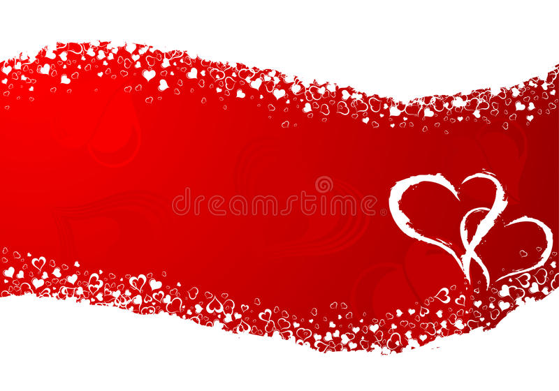 Valentines Day frame stock illustration