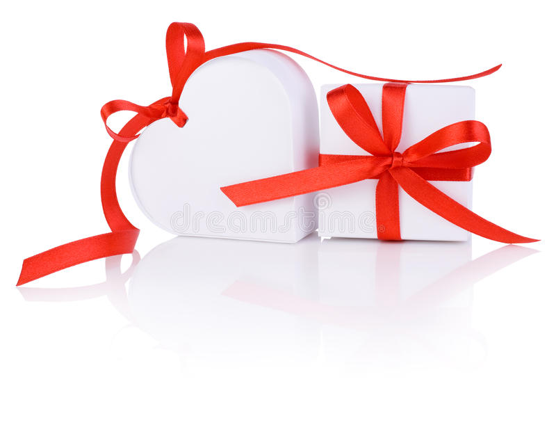 Valentines Day Gift In White Box And Heart Royalty Free Stock Photography