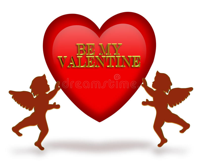 Valentines day graphic cupids royalty free stock photo