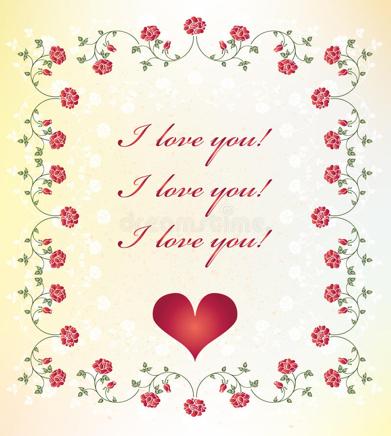 Valentines day greeting card royalty free illustration