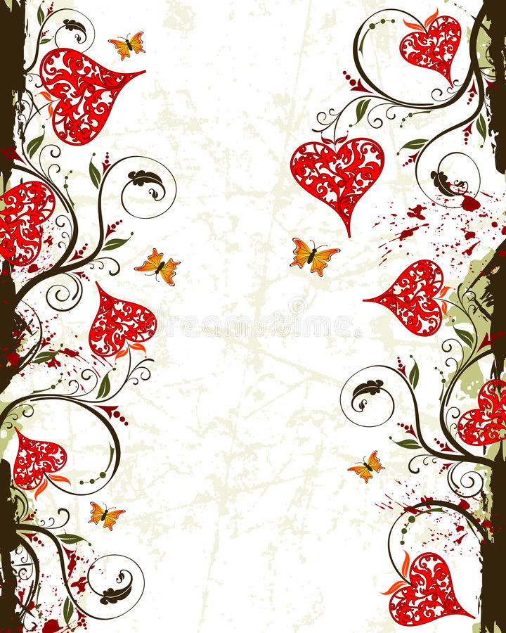 Free Valentines Day Grunge Backgrou Royalty Free Stock Images - 4000209